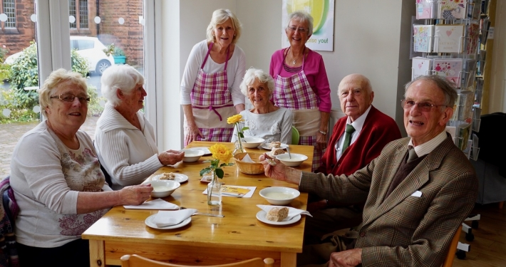 Photo of members of the Heswall Methodist Church Friendship Club