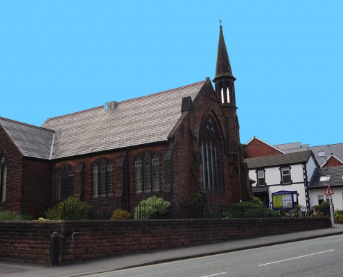 Heswall Methodist Church Beacon from the road landscape